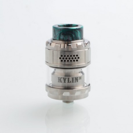Authentic Vandy Vape Kylin M Mesh RTA Rebuildable Tank Atomizer - Silver, 3ml / 4.5ml, 24mm Diameter
