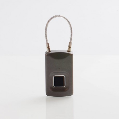 Biometric USB Keyless 150mAh Fingerprint Padlock for Luggage / Backpack - Grey
