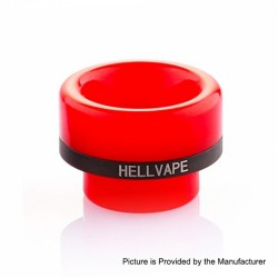 Authentic Hellvape 810 Drip Tip for Passage RDA Atomizer - Red, Resin, 12.5mm