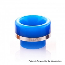 Authentic Hellvape 810 Drip Tip for Passage RDA Atomizer - Blue, Resin, 12.5mm