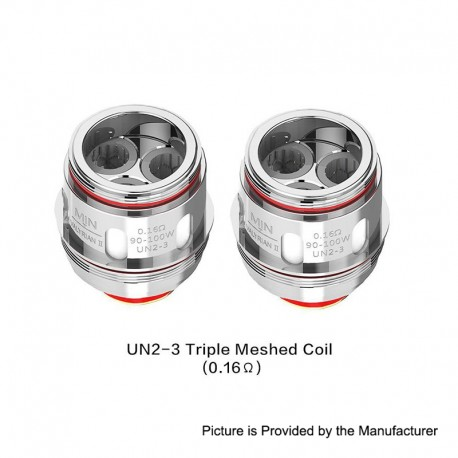 Authentic Uwell Valyrian 2 II UN2-3 Triple Meshed Coil Head - Silver, Stainless Steel, 0.16ohm (90~100W) (2 PCS)