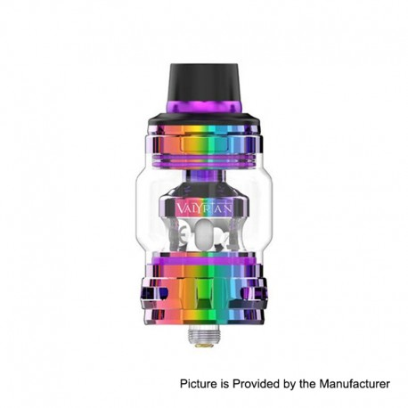 Authentic Uwell Valyrian 2 II Sub Ohm Tank Atomizer - Iridescent, SS + Pyrex Glass, 6ml, 0.32ohm, 29mm Diameter