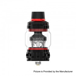 Authentic Uwell Valyrian 2 II Sub Ohm Tank Atomizer - Black + Red, SS + Pyrex Glass, 6ml, 0.32ohm, 29mm Diameter