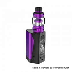 Authentic Uwell Valyrian 2 II 300W TC VW Box Mod + Tank Atomizer Kit - Purple + Black, 5~300W, 6ml, 3 x 18650