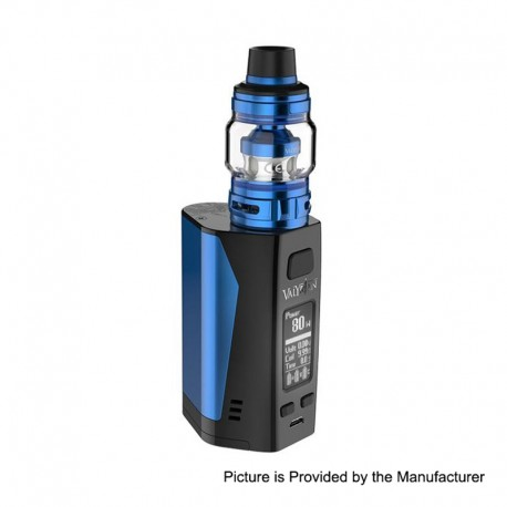 Authentic Uwell Valyrian 2 II 300W TC VW Box Mod + Tank Atomizer Kit - Blue + Black, 5~300W, 6ml, 3 x 18650