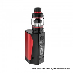 Authentic Uwell Valyrian 2 II 300W TC VW Box Mod + Tank Atomizer Kit - Red + Black, 5~300W, 6ml, 3 x 18650