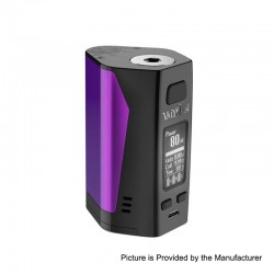 Authentic Uwell Valyrian 2 II 300W TC VW Variable Wattage Box Mod - Purple + Black, 5~300W, 3 x 18650