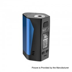 Authentic Uwell Valyrian 2 II 300W TC VW Variable Wattage Box Mod - Blue + Black, 5~300W, 3 x 18650