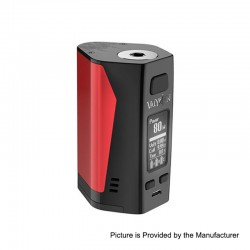 Authentic Uwell Valyrian 2 II 300W TC VW Variable Wattage Box Mod - Red + Black, 5~300W, 3 x 18650