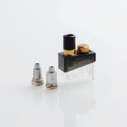 Authentic SMOKTech SMOK Trinity Alpha Kit Replacement Pod Cartridge + Nord MTL 0.8ohm Coil + Mesh 0.6 Coil - Prism Gold, 2.8ml