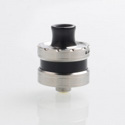 Vapeasy La Le Dripping Style RDA Rebuildable Dripping Atomizer w/ BF Pin - Silver + Black, 316 Stainless Steel, 22mm Diameter