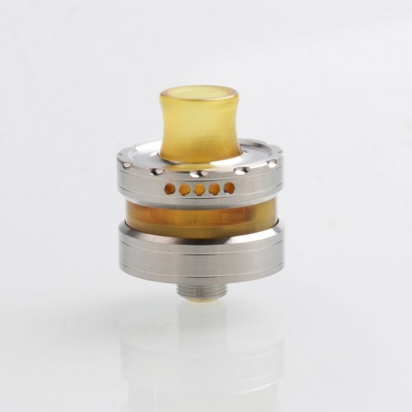 Vapeasy La Le Dripper Style RDA Rebuildable Dripping Vape Atomizer w/ BF Pin - Silver + Brown, 316SS + PEI, 22mm Diameter