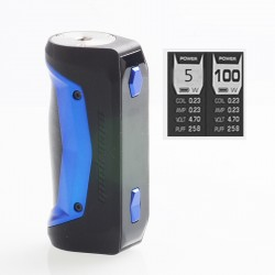 Authentic GeekVape Aegis Solo 100W TC VW Variable Wattage Box Mod - Blue, 5~100W, 1 x 18650