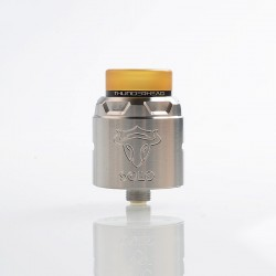 [Ships from Germany] Authentic ThunderHead Creations THC Tauren Solo RDA Rebuildable Dripping Atomizer w/ BF Pin - SS, 2ml, 24mm
