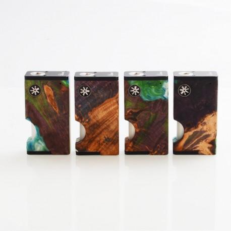 Authentic Ultroner x Asmodus Luna 80W Squonk Box Mod - Purple, Aluminum + Stabilized Wood, 1 x 18650, 6ml