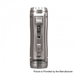 Authentic Ehpro Cold Steel 100 120W TC VW Variable Wattage Box MOD - Grey, 5~120W, 1 x 18650 / 20700 / 21700