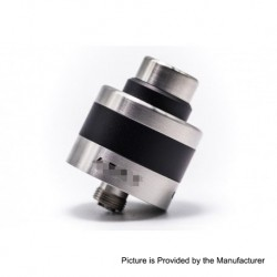 Vapeasy Apex Style RDA Rebuildable Dripping Atomizer - Silver, Stainless Steel, 22mm Diameter
