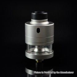 SXK Haku Riviera Style RDTA Rebuildable Dripping Tank Atomizer w/ BF Pin - Silver, 22mm Diameter, 316 Stainless Steel