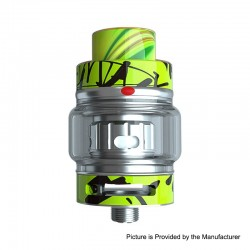 Authentic Freemax Fireluke 2 Graffiti Sub Ohm Tank Clearomizer Atomizer - Green, 5ml, 0.2ohm, 28mm Diameter