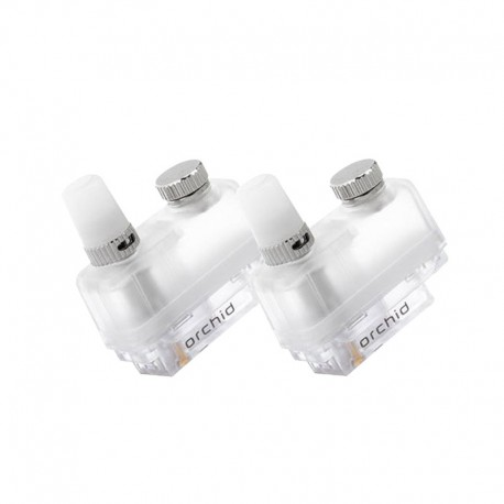 Authentic Orchid Vapor Orchid IQS Pod Kit Replacement Pod Cartridge - Silver, 3ml, 0.8 Ohm (2 PCS)
