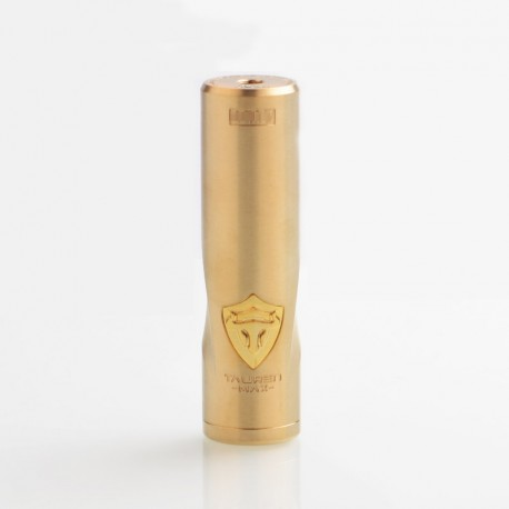 Authentic ThunderHead Creations THC Tauren Max Hybrid Mechanical Tube Mod - Brass, 1 x 18650 / 20700 / 21700