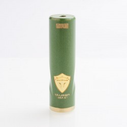 Authentic ThunderHead Creations THC Tauren Max Hybrid Mechanical Tube Mod - Brass Green, 1 x 18650 / 20700 / 21700
