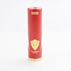 Authentic ThunderHead Creations THC Tauren Max Hybrid Mechanical Tube Mod - Brass Red, 1 x 18650 / 20700 / 21700
