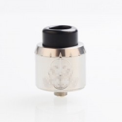 Apocalypse Mechlyfe Style RDA Rebuildable Dripping Atomizer w/ BF Pin - Silver, SS, 25mm Diameter