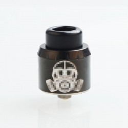 Apocalypse Mechlyfe Style RDA Rebuildable Dripping Atomizer w/ BF Pin - Black, SS, 25mm Diameter