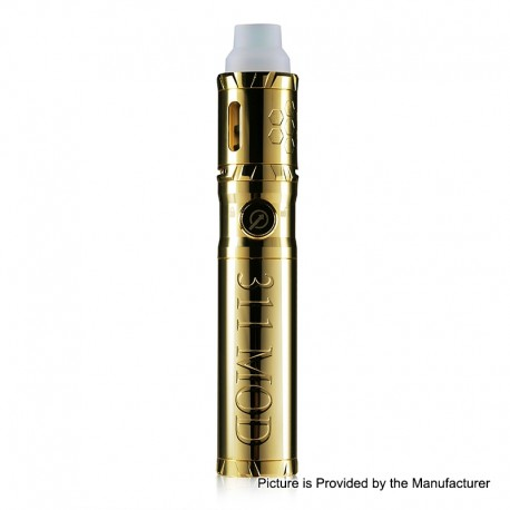 Authentic LTQ Vapor 311 Herb & Wax Vaporizer Mod Kit - Gold, 1 x 18650