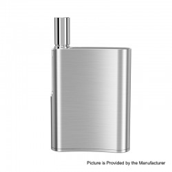 Authentic Eleaf iCare Flask 520mAh Battery Mod + 10mm Atomizer Kit - Silver, 1.0ohm, 1.0ml