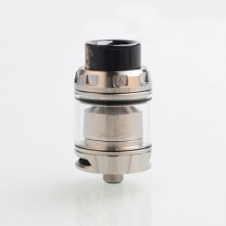 Authentic Ehpro Kelpie RTA Rebuildable Tank Atomizer - Silver, Stainless Steel, 3.5ml, 25mm Diameter