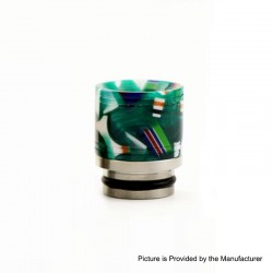 810 Drip Tip for TFV8 / TFV12 Tank / Goon / Kennedy / Reload RDA - Green, Resin + Stainless Steel, 19mm