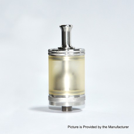 Taifun GTR Style RTA Rebuildable Tank Atomizer - Silver, 316 Stainless Steel + PC, 4ml, 23mm Diameter