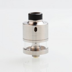 ShenRay Haku Riviera Style RDTA Rebuildable Dripping Tank Atomizer w/ BF Pin - Silver, 22mm Diameter, 316 Stainless Steel