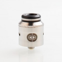 Authentic Augvape Occula RDA Rebuildable Dripping Atomizer w/ BF Pin - Silver, Stainless Steel, 24mm Diameter