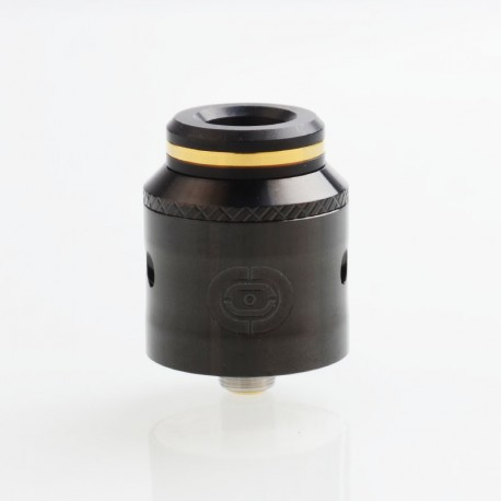 Authentic Augvape Occula RDA Rebuildable Dripping Atomizer w/ BF Pin - Black, Stainless Steel, 24mm Diameter
