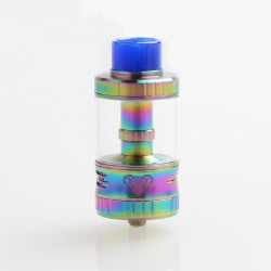 Authentic G-taste Aries 30 RTA Rebuildable Tank Atomizer - Rainbow, Stainless Steel + Glass, 10ml, 30mm Diameter