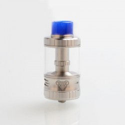 Authentic G-taste Aries 30 RTA Rebuildable Tank Atomizer - Silver, Stainless Steel + Glass, 10ml, 30mm Diameter