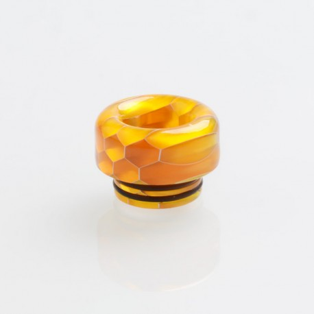 810 Drip Tip for TFV8 / TFV12 Tank / 528 Goon / Kennedy / Reload RDA - Yellow, Resin, 12.2mm