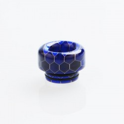 810 Drip Tip for TFV8 / TFV12 Tank / 528 Goon / Kennedy / Reload RDA - Blue, Resin, 12.2mm