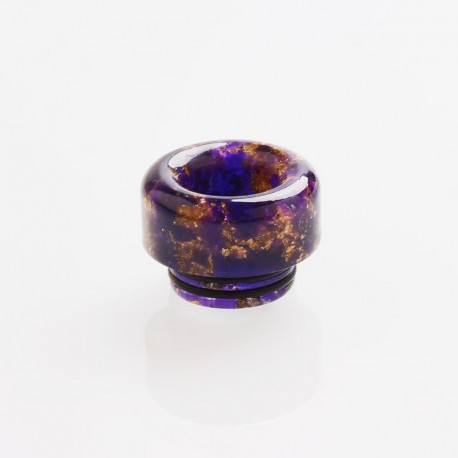 810 Drip Tip for TFV8 / TFV12 Tank / 528 Goon / Kennedy / Reload RDA - Purple, Resin, 12.4mm