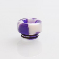 810 Drip Tip for TFV8 / TFV12 Tank / 528 Goon / Kennedy / Reload RDA - Purple, Resin, 12.3mm