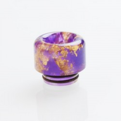 810 Drip Tip for TFV8 / TFV12 Tank / 528 Goon / Kennedy / Reload RDA - Purple, Resin, 15.5mm