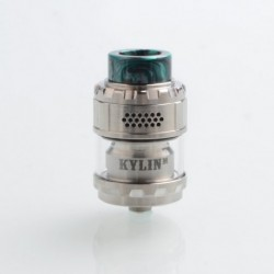 [Ships from Germany] Authentic Vandy Vape Kylin M RTA Rebuildable Tank Atomizer - Silver, 3ml / 4.5ml, 24mm Diameter