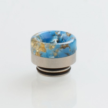 810 Drip Tip for TFV8 / TFV12 Tank / 528 Goon / Kennedy / Reload RDA - Blue, Resin + SS, 13.5mm