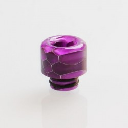 510 Drip Tip for RDA / RTA / RDTA / Clearomizer / Sub Ohm Tank Vape Atomizer - Purple, Resin, 14mm