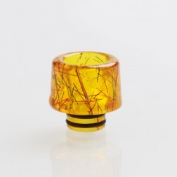 Authentic Vapesoon 510 Drip Tip for RDA / RTA / RDTA / Clearomizer Vape Atomizer - Yellow, Resin, 16mm