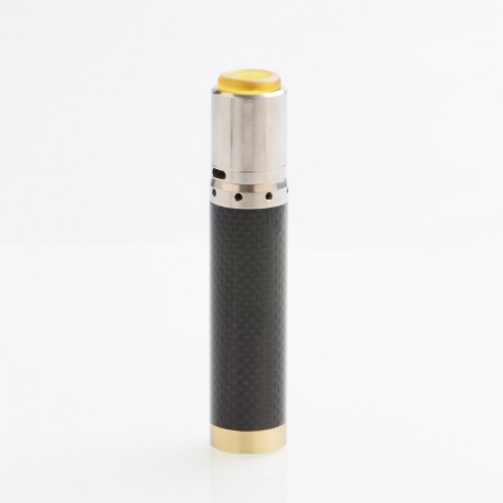 Kennedy Vindicator Style Carbon Fiber Hybrid Mechanical Mod + Kennedy 25 Style RDA Kit - Black, SS, 1 x 18650/20700/21700