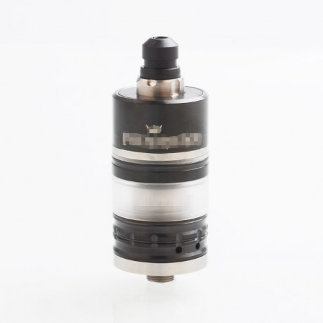 Menelaus Style RTA Rebuildable Tank Atomizer - Black, 316 Stainless Steel + Acrylic, 4ml, 22mm Diameter